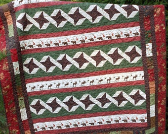 Quilt Pattern  - Adirondack Crossings - Large Throw or Twin -