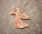 Ceramic Pottery Angel Christmas Ornament