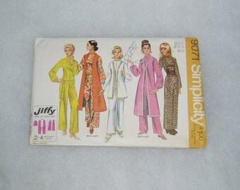 Vintage Simplicity Pattern, Misses' Jumpsuit and Vest, 9071 Size 16
