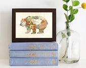 Bear Print — Woodland Creatures Series