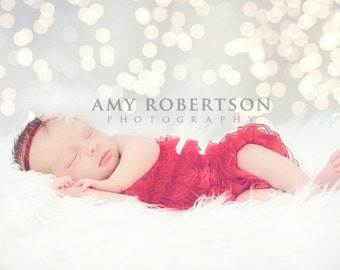 SANTA BEBE Headband - Preemie to Adult Sizes Available - Also Available with Christmas Green Glitter Band