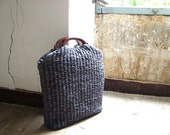 Chic Market Basket in Slate Grey. Woven to Order.  Other colours available - byloomandhyde