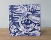 Card called Hidden Bird in dark blue