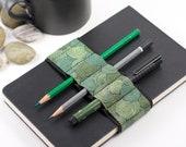 Journal Bandolier // vertigreen // (a better pencil case, journal pen holder, book strap, pen loop, pencil roll, pen bandolier)