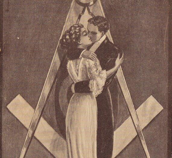 Once a Mason's, Always a Mason's- J. I. Austen- 1910 Vintage Postcard- Used