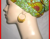 Fulani Earrings : Size Large Traditional Handmade Gold Plated Brass Very Lightweight and Comfy
