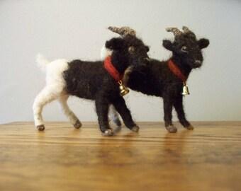 black felt goat
