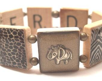 Discover Safari Scrabble Bracelet