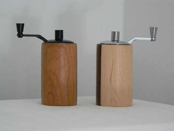Handmade Wooden Salt and Pepper Grinders - Salt and Pepper Mills - 12