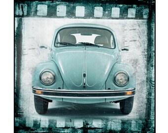 still life,Volkswagon Beetle, Vintage Car, Retro Beauty, Atomic ,Mid Century, 1960s Classic Car Photo Print 8x8