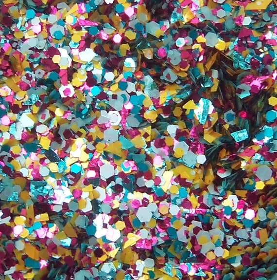 Limited Edition MINI Fuchsia & Friends Glitter Nail Polish