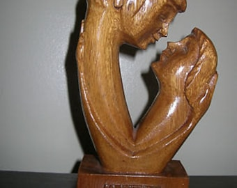 Stunning Hand Carved Wooden Hawaii Sculpture