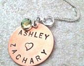 personalized necklace, birthstone jewelry, birthday necklace, wedding necklace, name necklace, date necklace, custom necklace