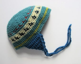 chullo wool baby/toddler hat with earflaps