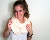 Chunky Cowl Scarf Knit Peach- The Patuxent Cowl