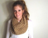 Chunky Cowl Scarf Knit Taupe - Charm City Cowl
