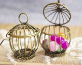 1  piece Three D bird cage pendant-wired--F600