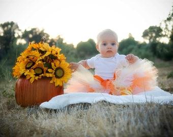 Pre-Sale 25% OFF...Reg Price 25.99 Halloween Tutu, Candy Corn Tutu, Fall Tutu, Sizes Avail, Infant, Toddler, Child, Photography Prop