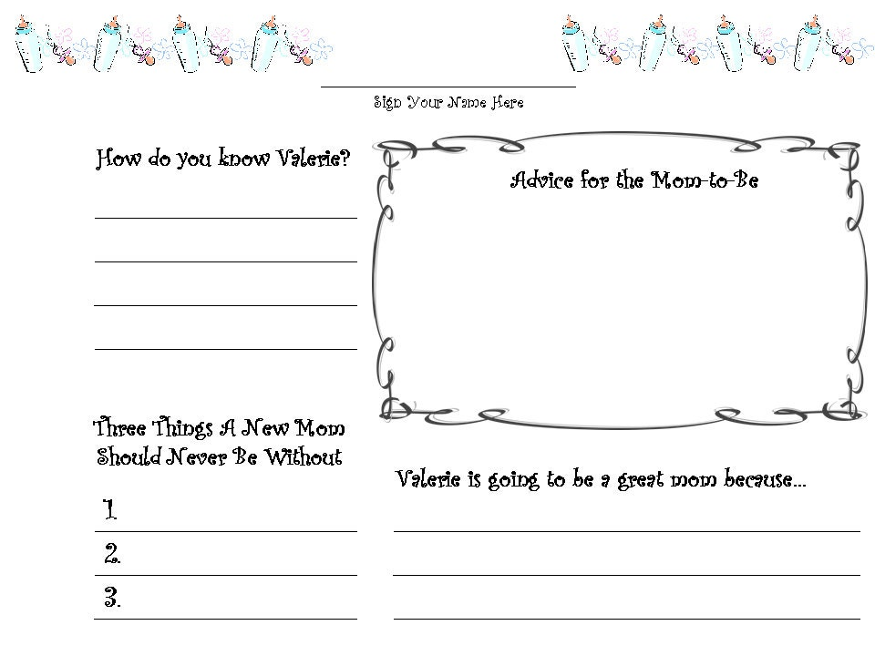 customized baby shower guestbook guest book pages