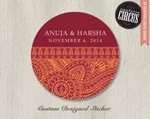 Custom Wedding Stickers - Indian Spice Henna Theme