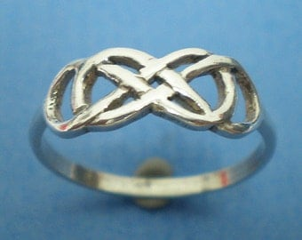 Sterling Silver Double Infinity Ring - Infinity Knot Ring - Infinity times Infinity Ring - Best Friend Gift, Friendship Gift