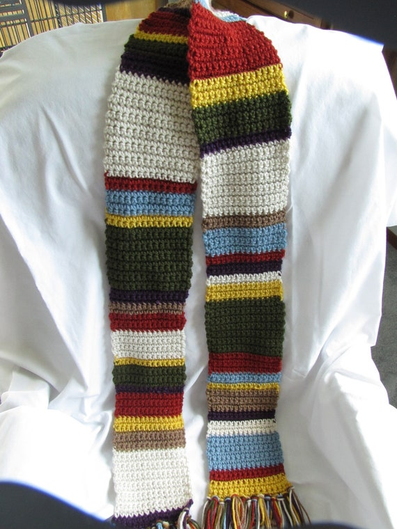 Doctor Who replica scarf - 4th dr - 70 inch - ready to ship - crochet