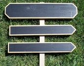 Wood Wedding Signs, Chalkboard Wedding Sign Kit, Wedding Arrow Signs, Indoor Outdoor Directional Signs