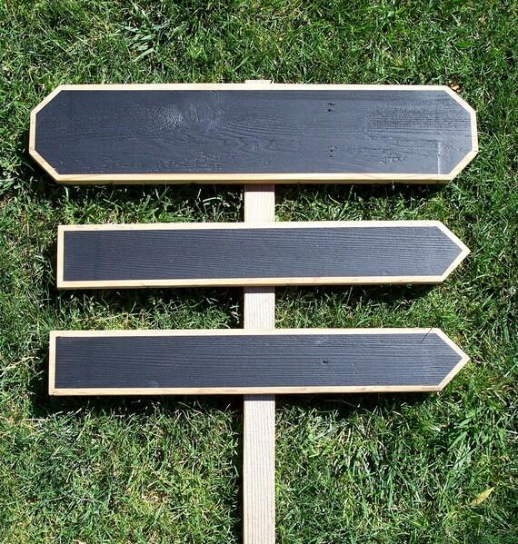 Directional Chalkboard Arrow Garden Stake Sign Wedding ...  |Chalkboard Arrow Sign Plant