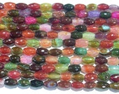 6x9mm Multicolor Agate Beads Crack Cut Rice 4944 15''L Natural Genuine Semiprecious Gemstone Bead Wholesale Beads