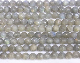 4mm/6mm/8mm/10mm/12mm/14mm Round Cut Labradorite Beads Genuine Semiprecious Gemstone Bead Strand 15'L - 5661 15''L Jewelry Wholesale Beads