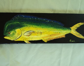 Mahi-Mahi on Wood