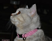 Melody - Pink sparkling cat collar