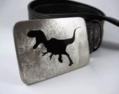 T-Rex Belt Buckle - Stainless Steel - Handmade