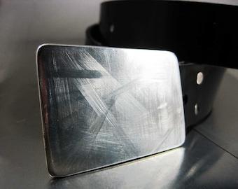 Scuffed Stainless Steel Belt Buckle