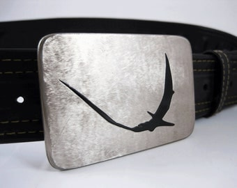 Pterodactyl Belt Buckle - Stainless Steel - Handmade