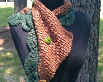 Scarf, Knitted : Lovely Tree