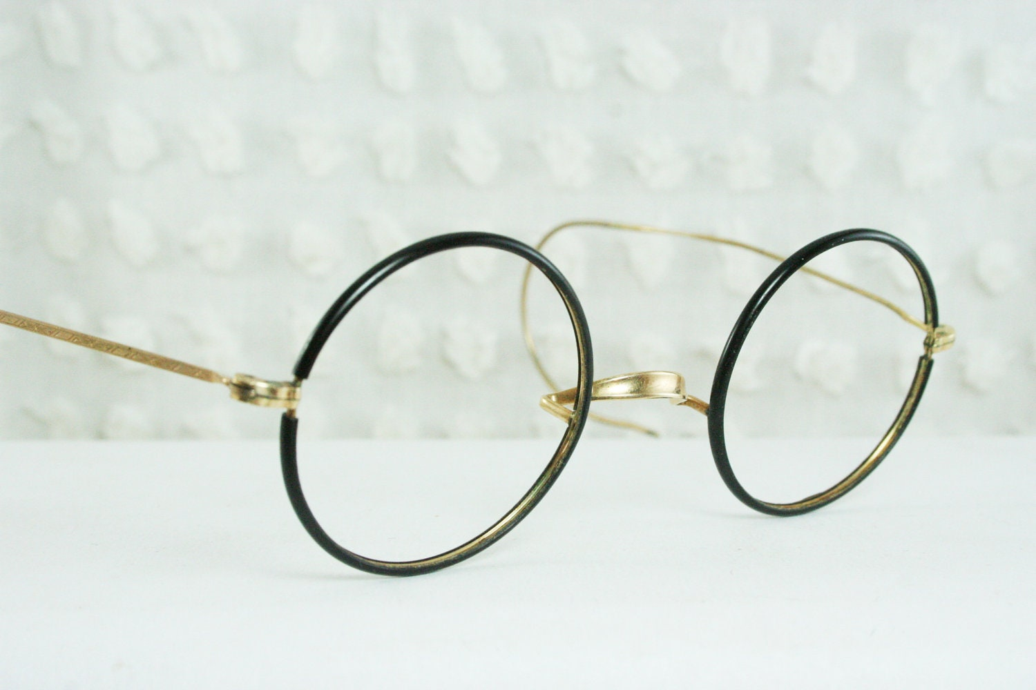 30s glasses 1920 s eyeglasses black circle by diaeyewear