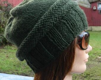 PDF Knitting Pattern - Knit Slouchy Hat / Simplicity