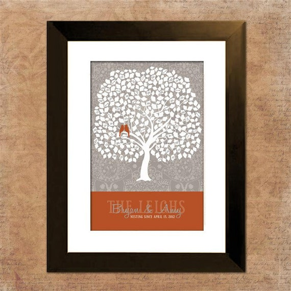 """Custom Wedding Tree Guest Book Alternative, 20"""" x 30"""", Signature Only, Up to 300 guests, Large Wedding Guest Book Tree"""