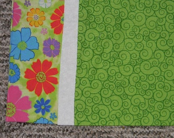 Green Flowered Standard Pillowcase