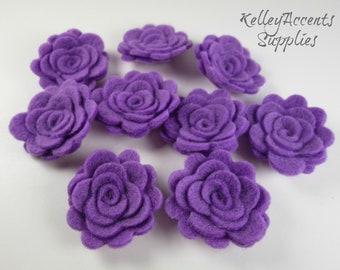 Lavender Felt Roses - Lavender Felt Posies - Lavender 3D Felt Flowers