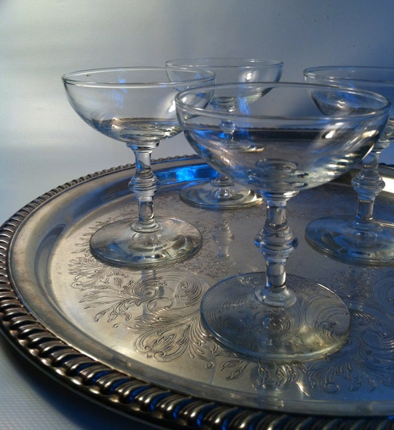 4 Coupe Champagne Glasses