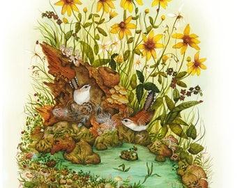 Bird Art  - Wildlife Print