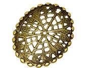 Filigree : 10 Antique Bronze Filigree Flower Wraps   Filigree Metal Stampings   Connectors   Links ... Lead, Nickel & Cadmium Free 14808