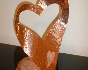 """Copper Heart Abstract Sculpture by Dennis Boyd (DB Designs - Creating Metal """"works of art"""") Sculpture Frame 7"""