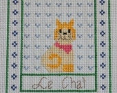 Le Chat - Completed Cross Stitch