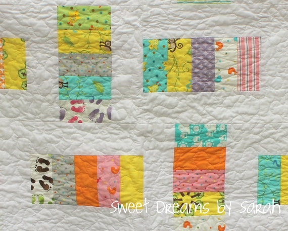 Monkey Ladders Baby Quilt