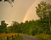 Summer storm, 8x10 fine art color photograph, nature rainbow