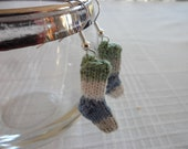 Knit Sock Earrings