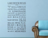 Custom listing for Anthony Lake House or Cottage, Beach Rules vinyl wall decal art